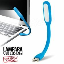 LAMPARA USB LED FLEXIBLE MINI LUZ LINTERNA PARA PORTATIL PC SOBREMESA LEER COLOR