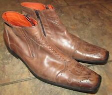 Robert Wayne Durango Brown Leather Ankle Boots Mens Size 13 EUC
