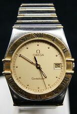 OMEGA Constellation 18k & S/S Champagne Dial Quartz Watch Movement#1441 (B1636)