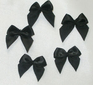 "Ribbon Bows Polyester Satin 1"" (25mm) 100 Piece Pack USA Seller"