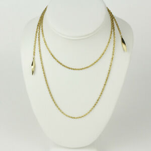 """14k Yellow Gold Wrap-Style Rope Necklace 42"""""""