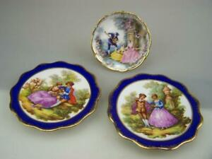 Three Limoges France display plates