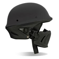 BELL Rogue Half Helmet Harley Chopper Street Bike MEDIUM Matte Black