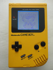 NINTENDO original game boy yellow DMG-01 custom backlight mod, white, red, green