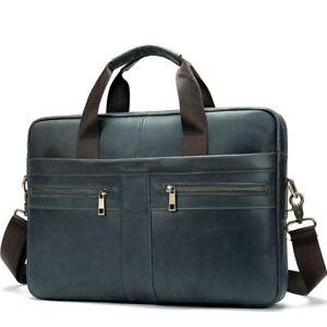 Men Briefcase Bag Business Leather Shoulder Messenger Bag Office Handbag15 inch