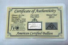x3 ACB SILVER 1 Gram TITANIC 1OOth ANNIVERSARY 99.9 Bullion Bar COA WOW $
