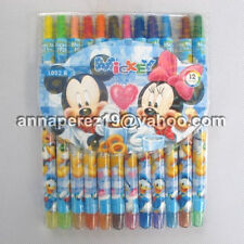 24% off! 12 pcs MICKEY MOUSE TWIST-UP RETRACTABLE ROLLING CRAYONS IN PACK!