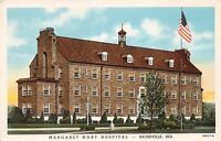 BATESVILLE INDIANA MARGARET MARY HOSPITAL~SISTERS OF THE POOR  POSTCARD 1940s