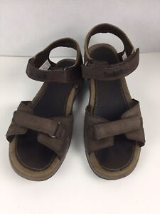 Timberland TBL73  Brown Leather Open Toe Sandals, Size 6 M Youth