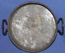 Antique 19c. Hand made folk copper round baking dish bowl