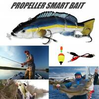 Electric Live bait LED Swimming Robotic Segment Fishing Lures Animated Swimbait