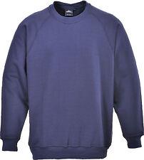 Portwest Workwear Roma Sweatshirt - B300 Medium Navy B300NARM