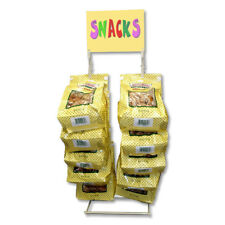 1 Almond Wire Standing Potato Chip Snack Rack Clip Strip Display for Counter Top