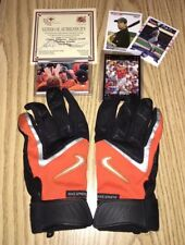CHRIS GOMEZ - GAME USED BALTIMORE ORIOLES BATTING GLOVES! W/COA + CARDS!