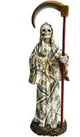 "9"" Money Santisima Santa Muerte Statue Holy Death Grim Reaper Sculpture"