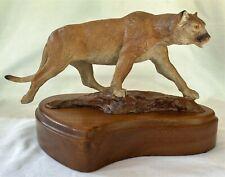 Joe Halko (Montana 1940-2009) Bronze Cougar Mt Lion Signed Limited Edition 4/12