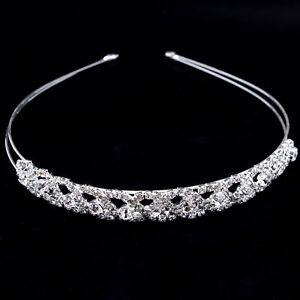 Crystal diamante rhinestone alice head hair band tiara bridal bridesmaid prom uk