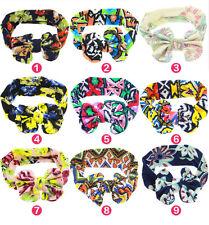9PCS/LOT  Girls Baby Rabbit Hairband Cute kids Child Floral Headband Headwear