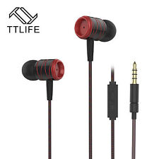High-End Headset Cuffie ttlife ed1hs NERO ROSSO IN-EAR IN PU custodia robusta-bass