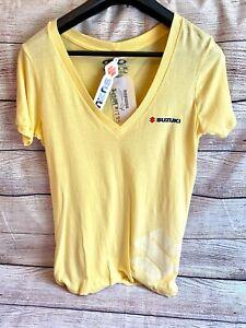 Factory Effex Womens Suzuki T-Shirt, Yellow, LG Large