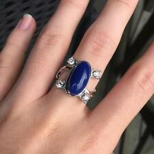 New Fashion Three Sizes Classic The Vampire Diaries Elena's Ring Lapis Lazuli