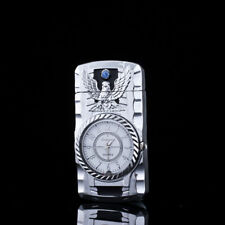 Fashion Metal Windproof Jet Torch Gas Butane Cigarette Lighter Bird Quartz Watch