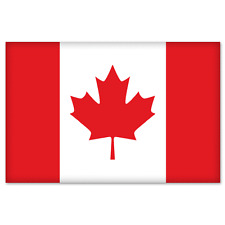 "Canada Canadian Flag car bumper sticker decal 5"" x 4"""
