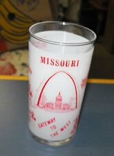 VINTAGE GLASS MISSOURI STATE TUMBLER LIBBEY GLASS CO. SOUVENIR SWANKY SWIG