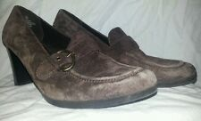 Merona Shoes- Brown Suede Loafers w/ Accent Buckle