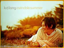KD LANG 2000 INVINCIBLE SUMMER PROMO POSTER ORIGINAL