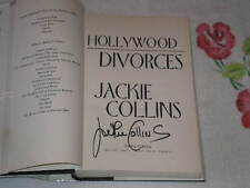 Hollywood Divorces by Jackie Collins    *Signed*