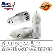 New Fast Life 2.1A/15W 2-Port Smart KO-20 Quick Charge Car Charger Silver Whit