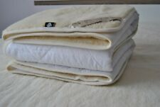 Merino Wool Mattress Topper Reversible Cotton All Seasons Double Bed 140 x 200