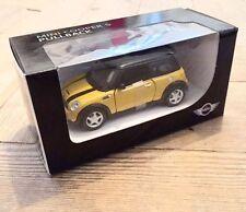 Miniature 1:36 Mini Cooper S R53 Mellow Yellow Genuine Car Model