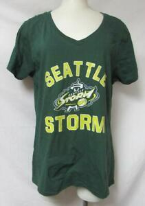 Seattle Storm Women's Size Large V-Neck T-Shirt  A1 4423