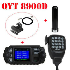 QYT KT-8900D Dual Band Quad VHF UHF Car Mobile Radio+Antenna+Nagoya Mount+Cable