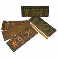 Vintage NJ LICENSE PLATE Lot of 5 New Jersey 1930s PLATES 1934, 1936 & Pair 1937