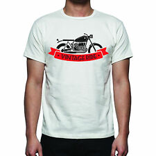 T-SHIRT  MAGLIETTA T SHIRT HAPPINESS  CAFE RACER VINTAGE MOTO