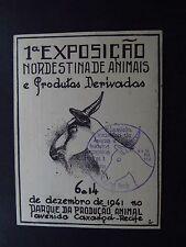 Postcard Bilhete Postal Brazil Brasil Exposicao Animals Goat Telegrafos 1941