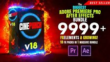 Adobe Première Pro and After Effects Transitions 9999+ VFX Éléments Digital