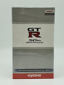 Kyosho Nissan Skyline GTR 4x Car 50th Anniversary Set 1:64 Scale Model Car - Bra