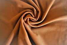"Milk Chocolate Brown Polyester Blend Fabric 2 Yards  72"" X 54"""