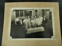 KGgallery CDV Cabinet Photo Thanksgiving Dinner Chef Restaurant Cafe Diner Food