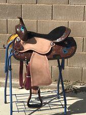 "17"" New Leather Western Pleasure Trail/Barrel Saddle."