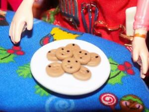 Xmas Cookies Plate Decoration fits Fisher Price Loving Family Barbie Dollhouse