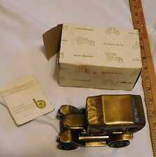 vintage Stanley Steamer Coin Bank M- 1154 B M- 1155 B with box made in USA