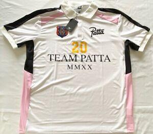 Patta MMXX Polo Jersey (White/Pink, M)