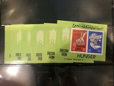 French Colonies Syria Syrie 6 mnh stamp sheets Freedom from Hunger