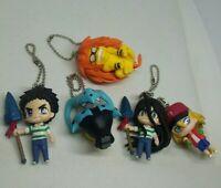 5pc Ushio to and Tora figure keychain strap charm Japan anime kawaii lot set