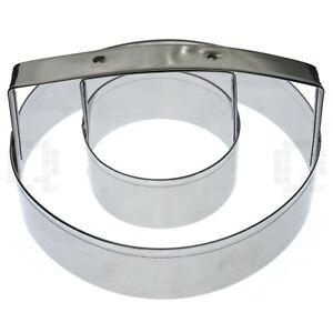 "Fox Run 5755 Metal Donut Cutter, 4"", Tin Plated Steel"